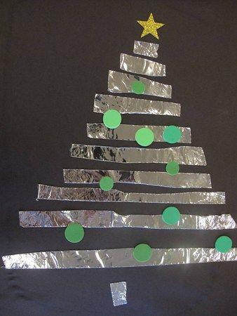 Sapin en bandes d'aluminium