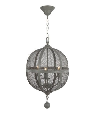 Love this Wire Mesh Chandelier on #zulily! #zulilyfinds | Black and ...