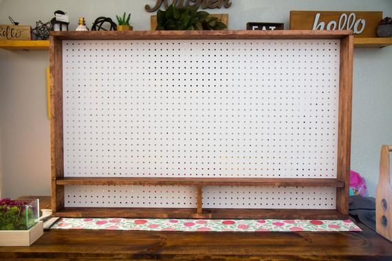 Photo of Peg Board Organizer for Craft Tools Pegboard Craft Room Organization