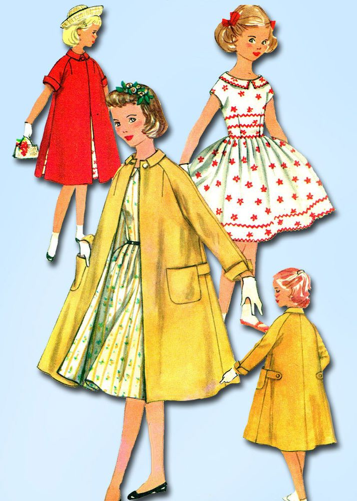 60s Vintage Simplicity Sewing Pattern 60 Girls Party Dress And Extraordinary 1950s Patterns
