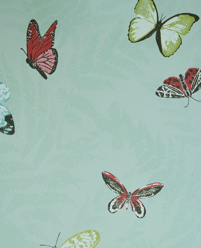 Papel pintado mariposas color verde mariposas - Papel pintado mariposas ...