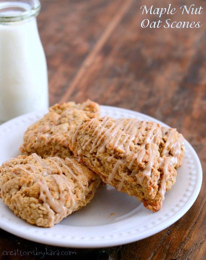 Maple Nut Oatmeal Scones - Creations by Kara