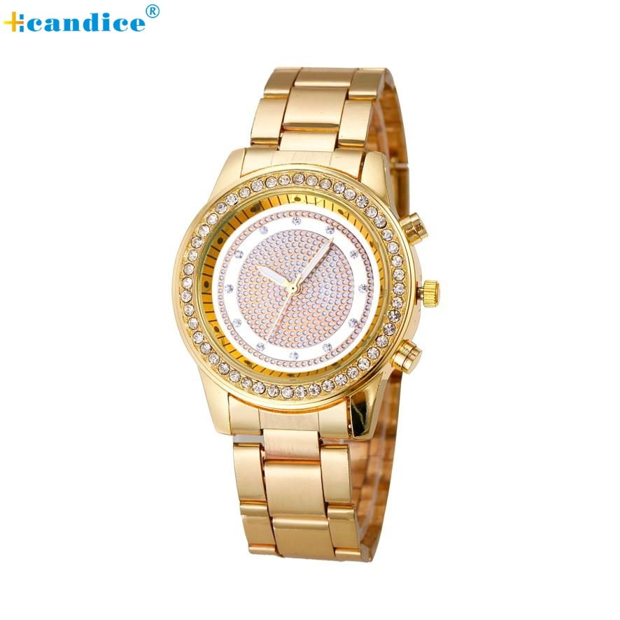 Fashion Elegant Design Ladies Women Girl Stainless Steel Quartz ...