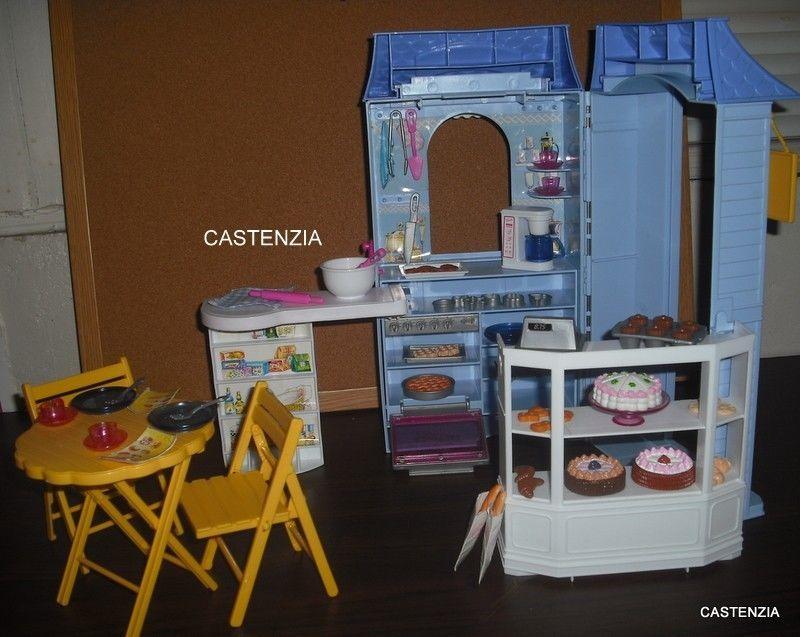Bagno Barbie ~ Mattel rare barbie bake shop cafe playset clb boy