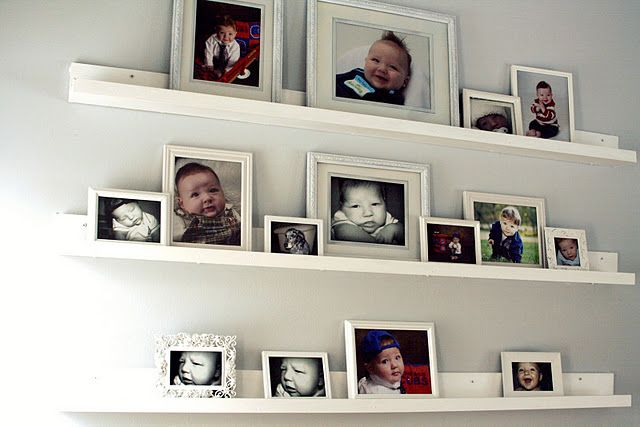 I need to do this for about 3 different walls instead of mounting the pics. This way I can just add/change pics easier.