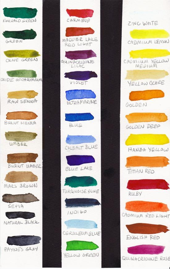 St Petersburg Watercolor Swatches Acrylic Set Watercolor