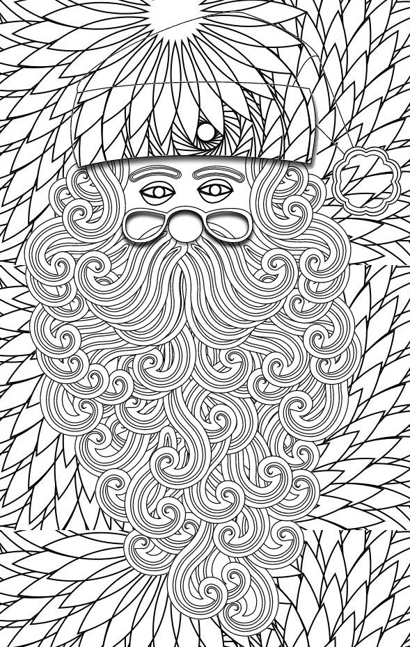 Image result for adult father christmas colouring pages Adult - new free coloring pages for father's day
