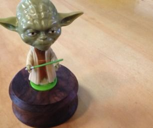 Make a Yoda desk ornament #woodworking #Star_Wars #bobblehead #decoration