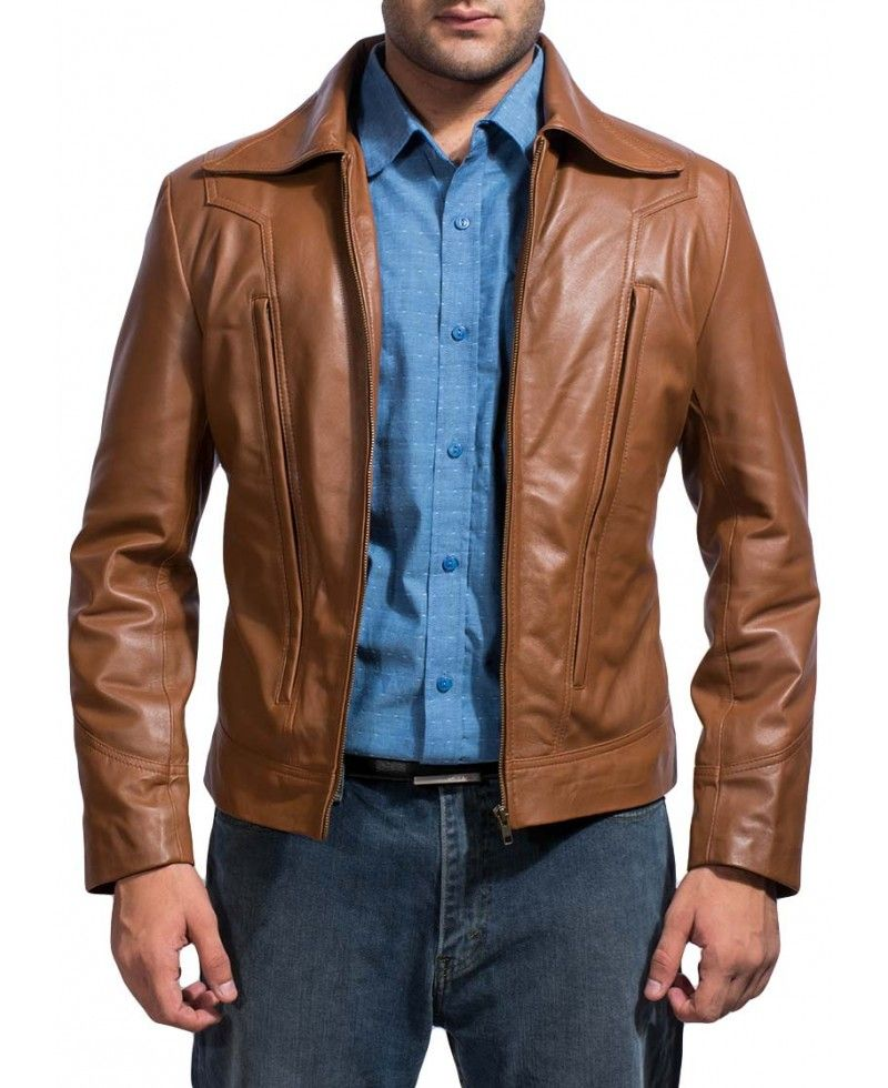 Old School Brown Leather Jacket Tan leather jackets