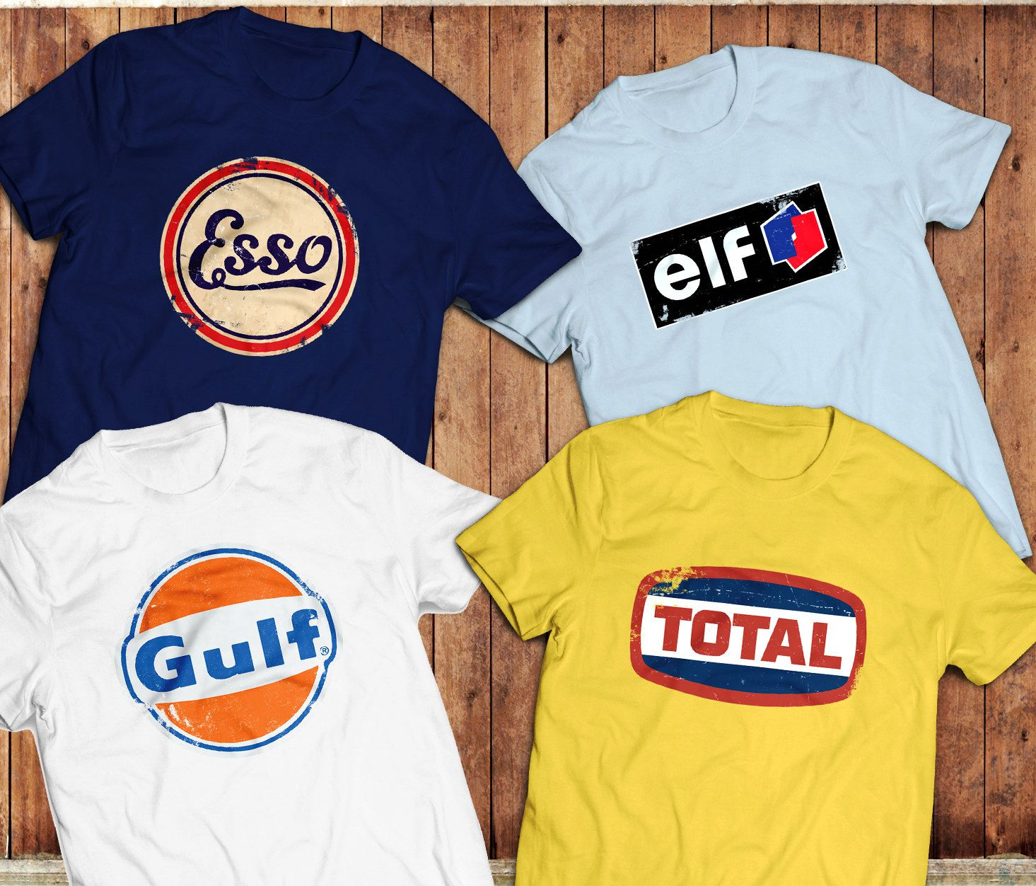 vintage gas and oil t shirts