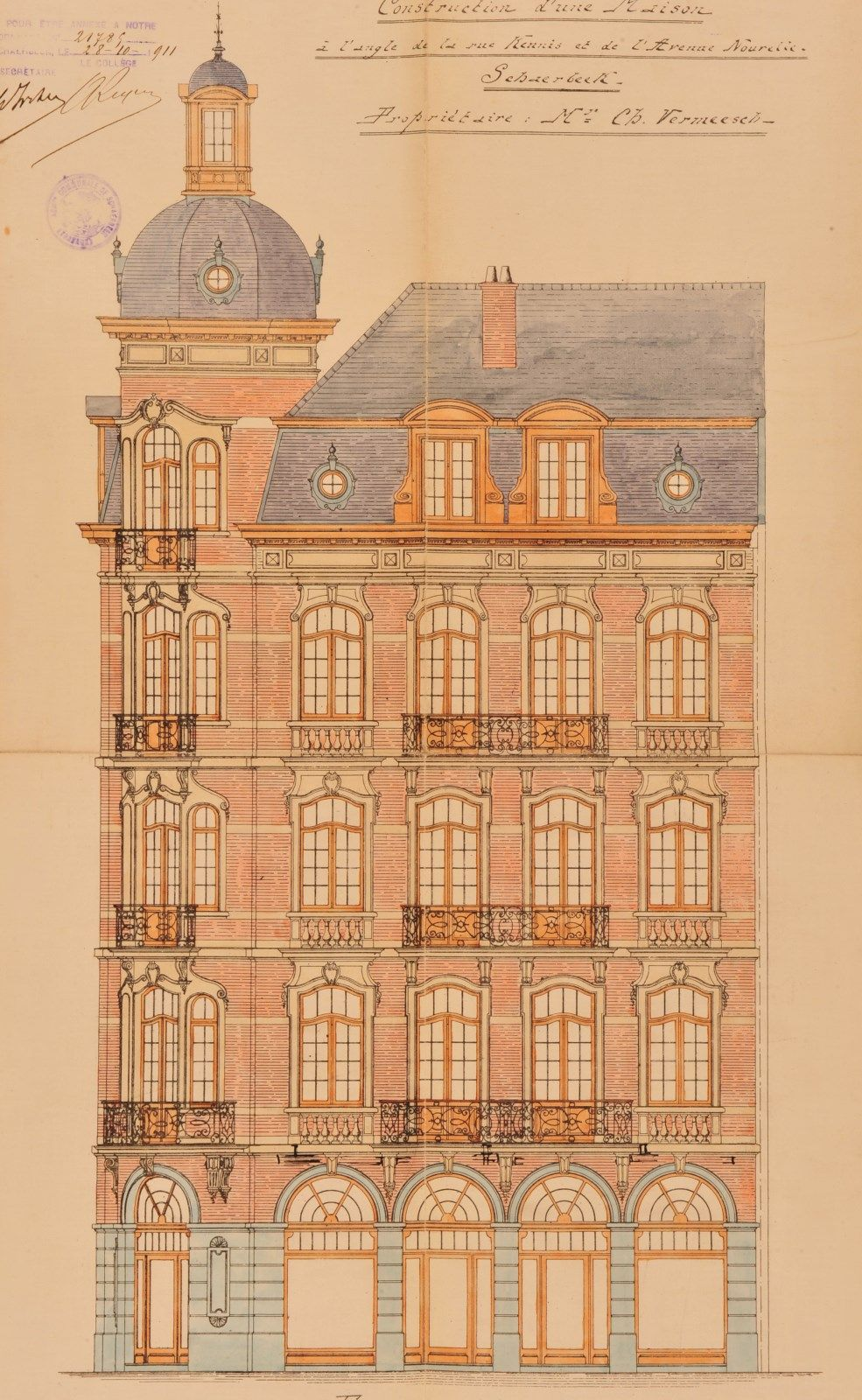 Schaerbeek - Avenue Gustave Latinis 2 - Rue Guillaume Kennis 2-4 - DE BURBURE Auguste