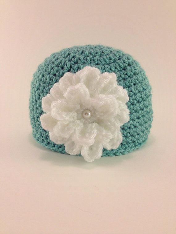 Crochet - crochet hat - Spring flower - photography prop - baby ...