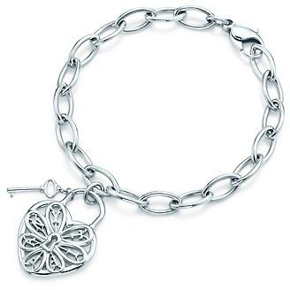 1a5587ba38 ShopStyle: Tiffany Filigree Heart tag bracelet with key | Products I ...