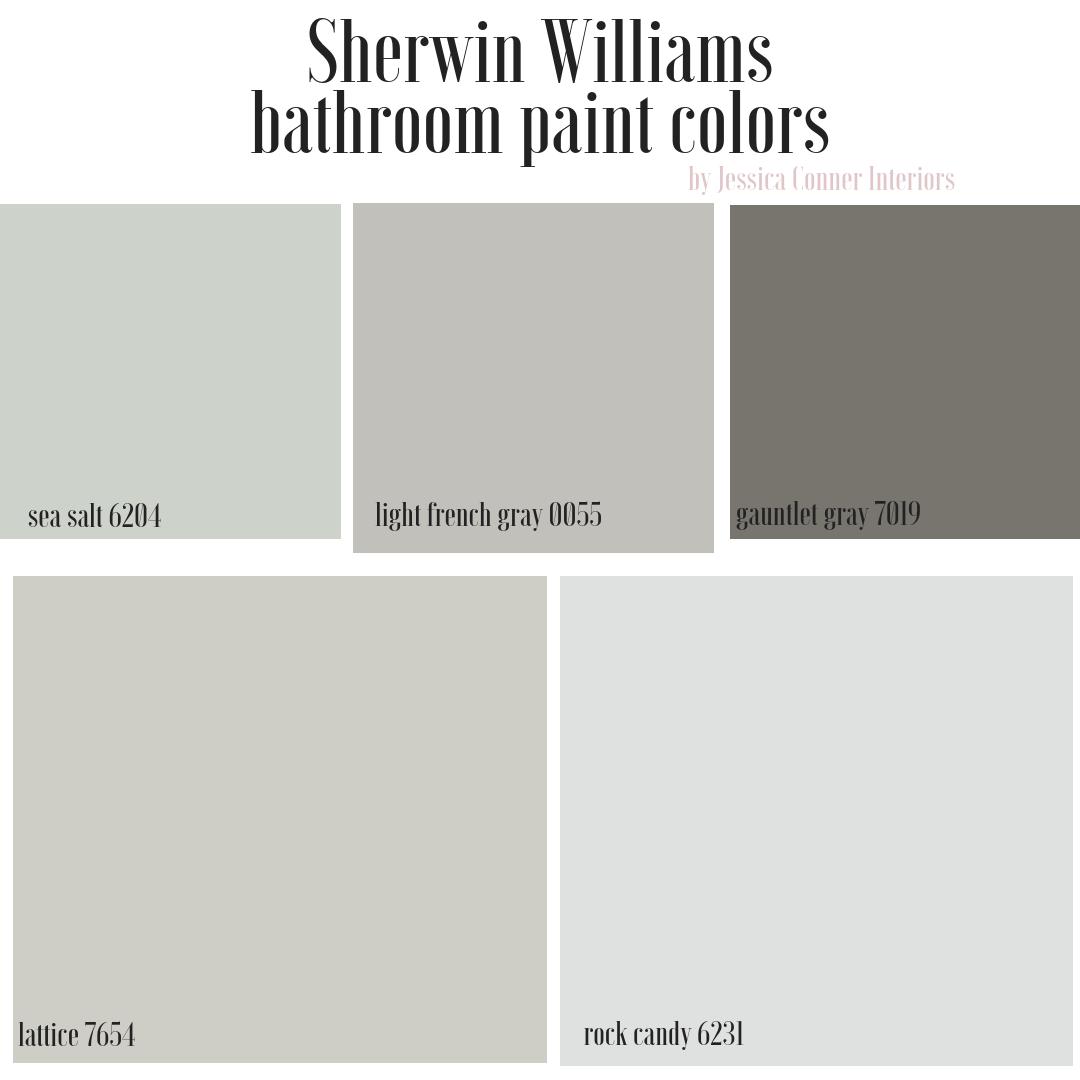 Top 5 Sherwin Williams Bathroom Paint Colors Jessica Conner Best Bathroom Paint Colors Bathroom Paint Colors Sherwin Williams Grey Bathroom Paint
