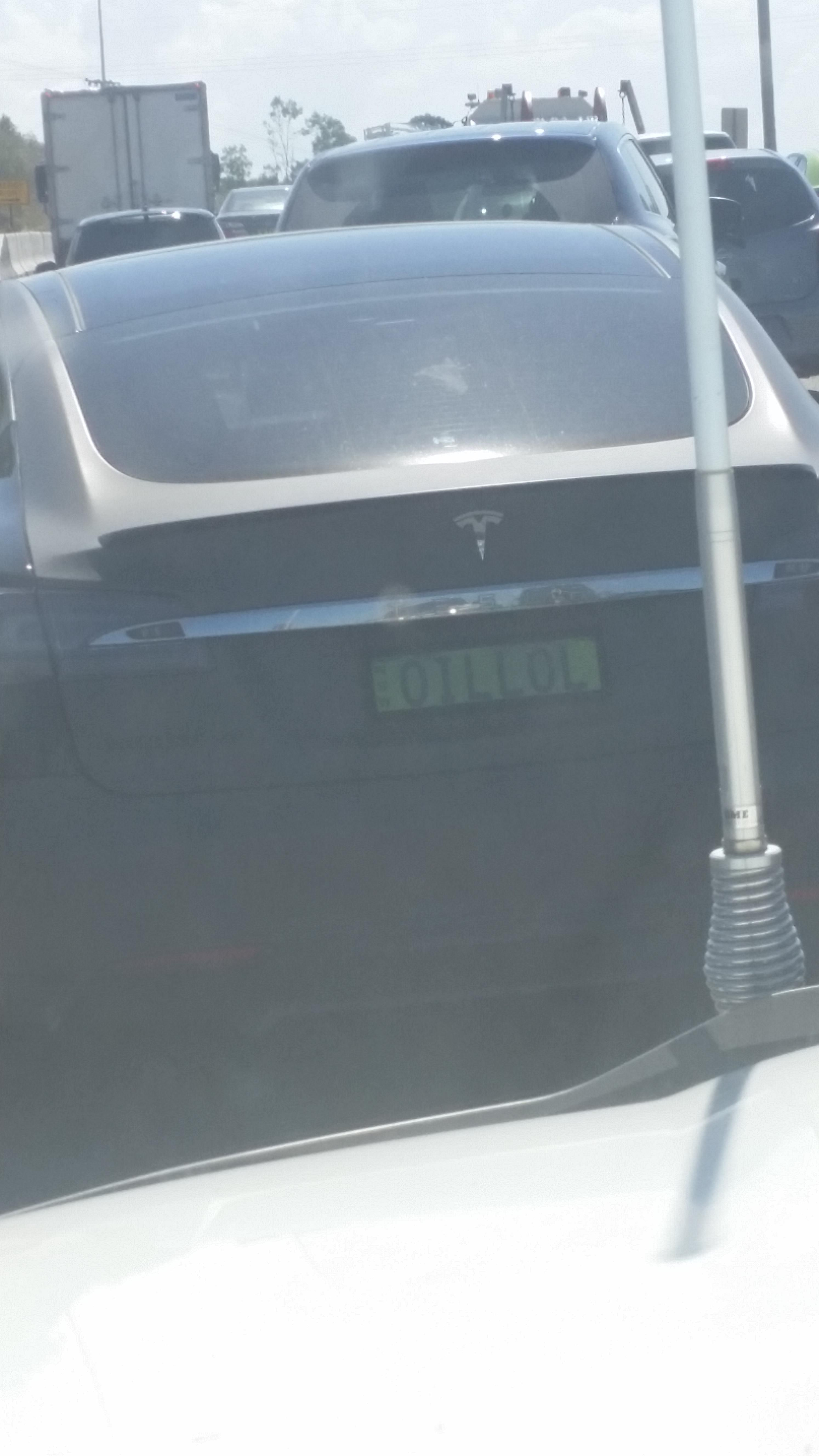 Saw my first Tesla today in Australia... I had a good laugh.