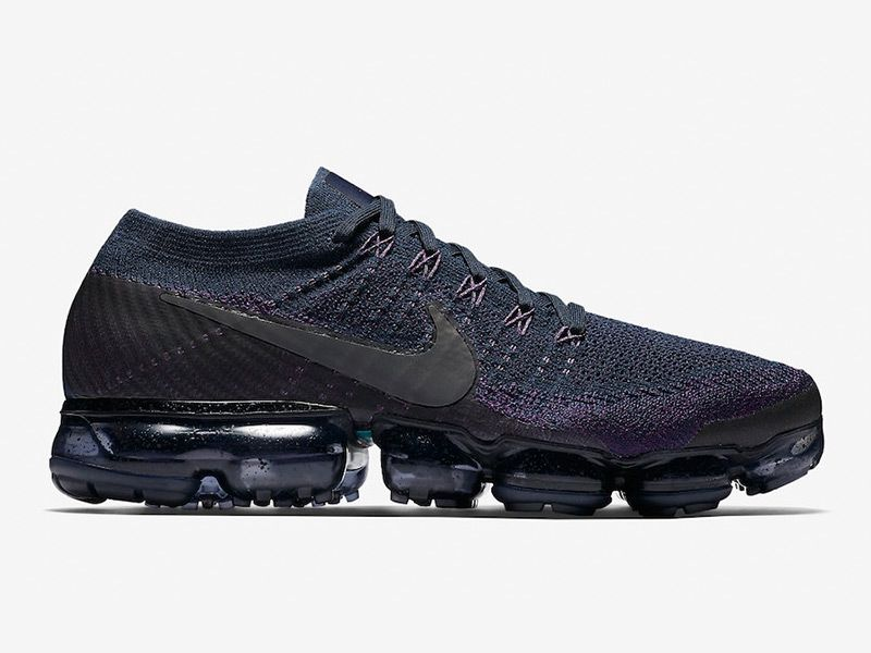 86c2452e2a872 Men s Women s Nike Air VaporMax Flyknit College Navy Dark Grey-Night Purple  Shoes 899473-402 UK Trainers Sale