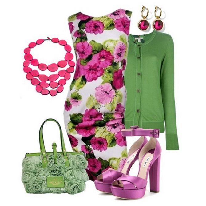 Модное сочетание одежды в картинках