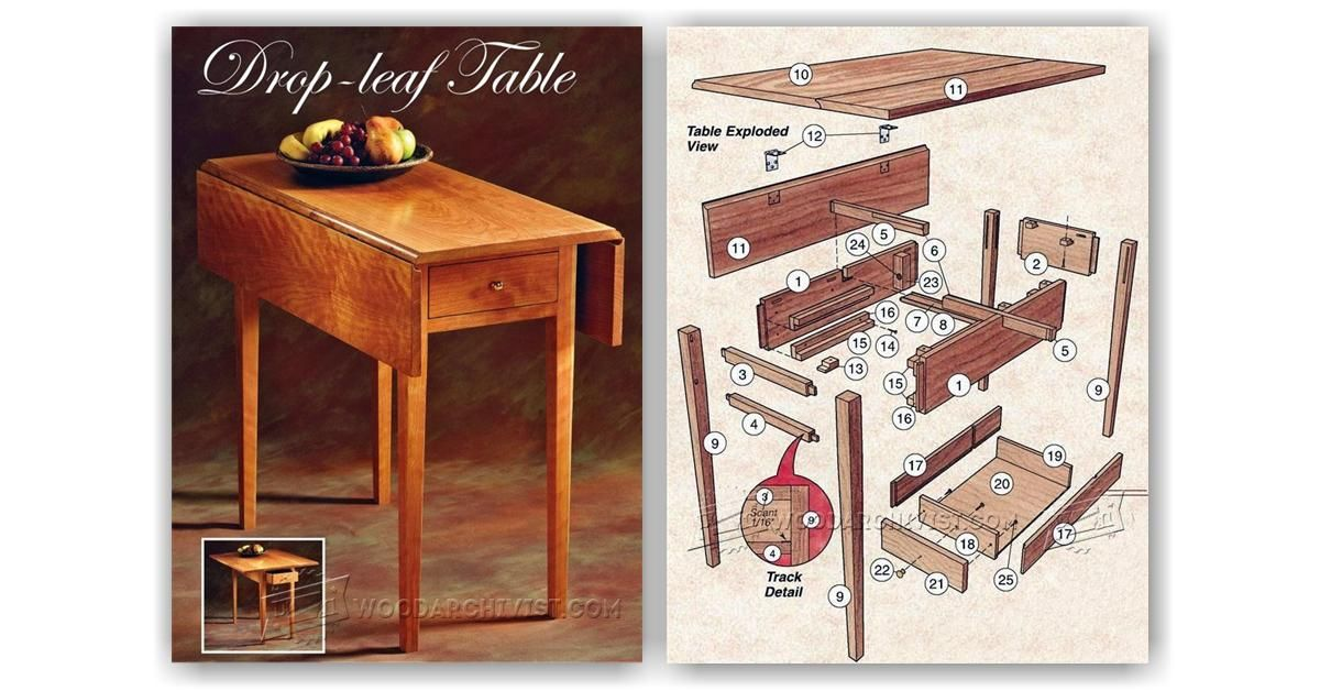Drop Leaf Table Plans Drop Leaf Table Leaf Table Table Plans