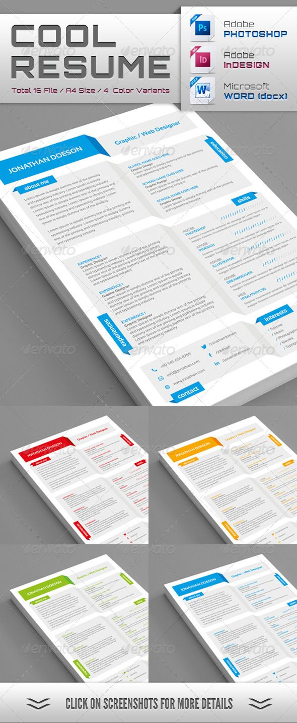 Free   Beautiful Resume Templates To Download   Hongkiat Shopgrat