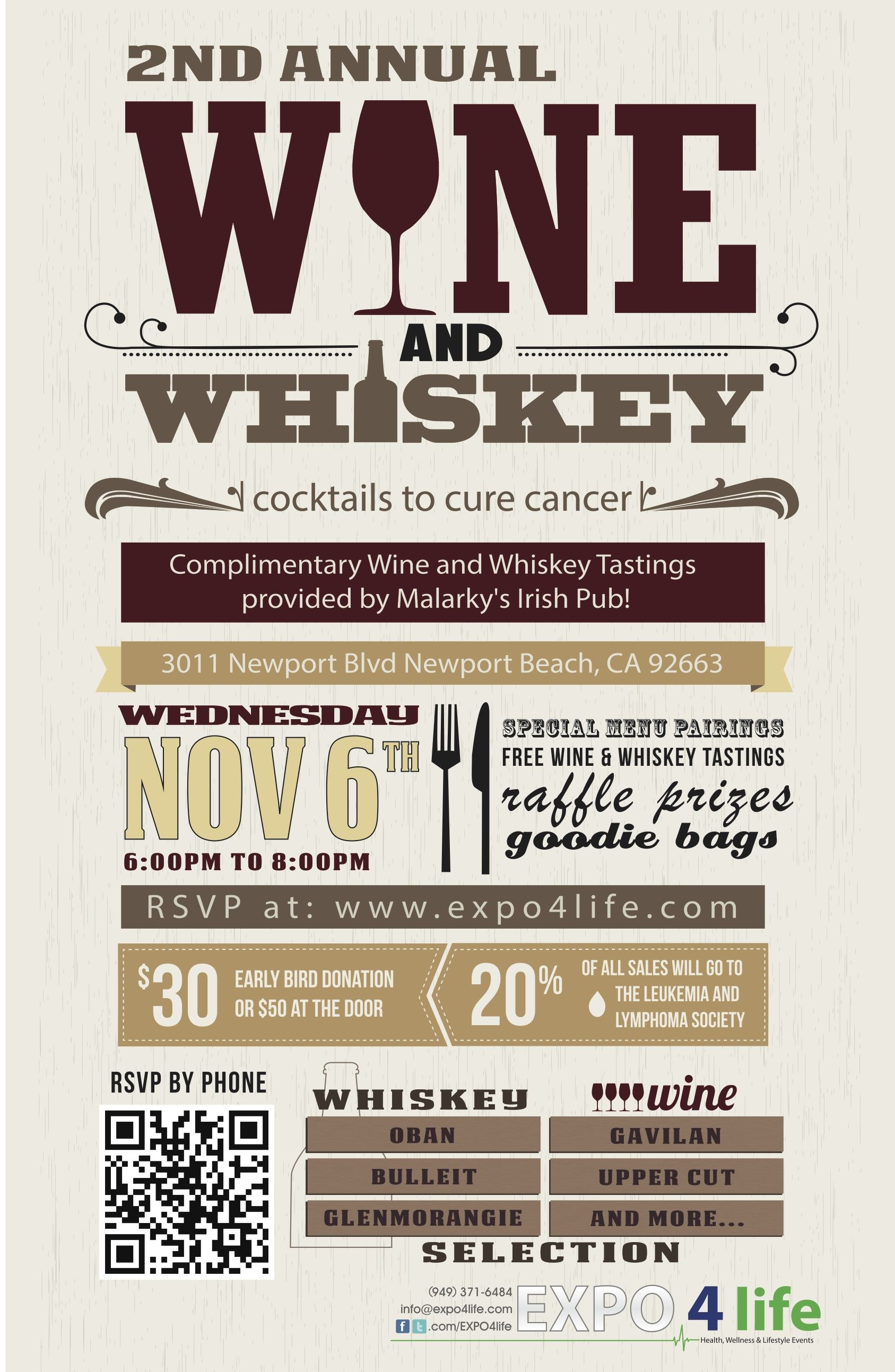 wine tasting journal template - expo 4 life wine and whiskey charity event at malarky 39 s