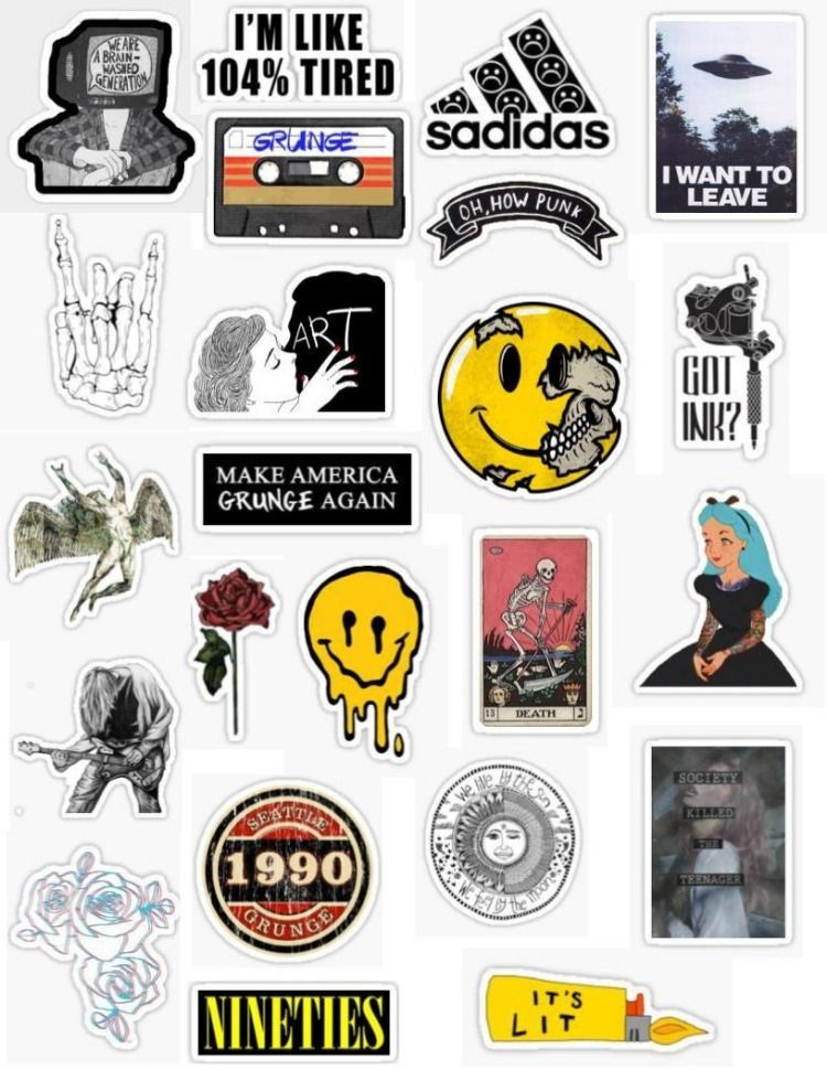 Photo of Grunge Stickers