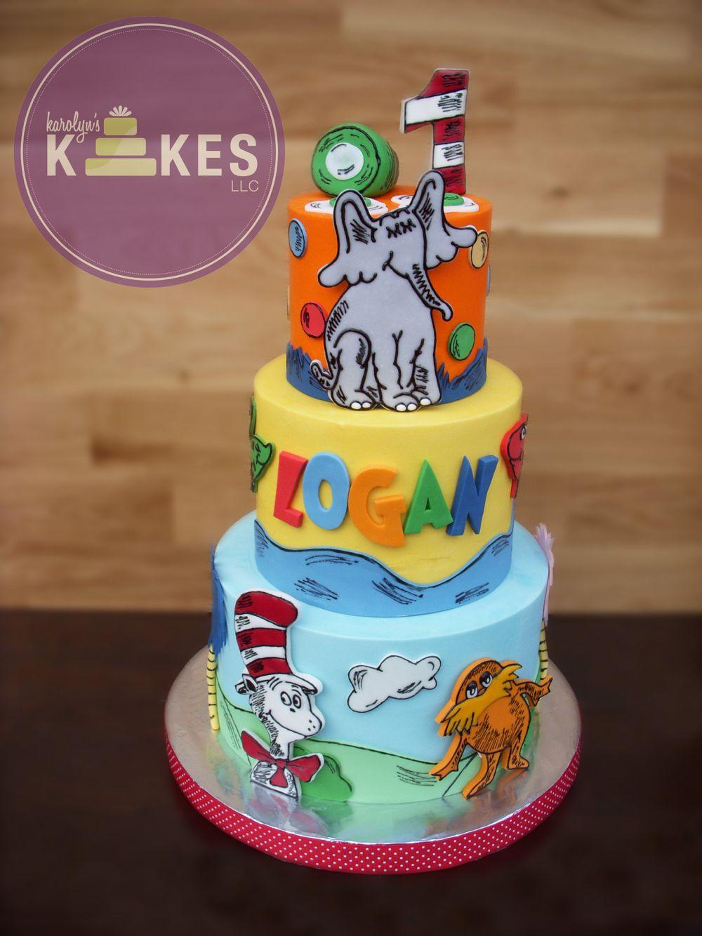 Dr Seuss KAKE! Cake is all iced in buttercream ...