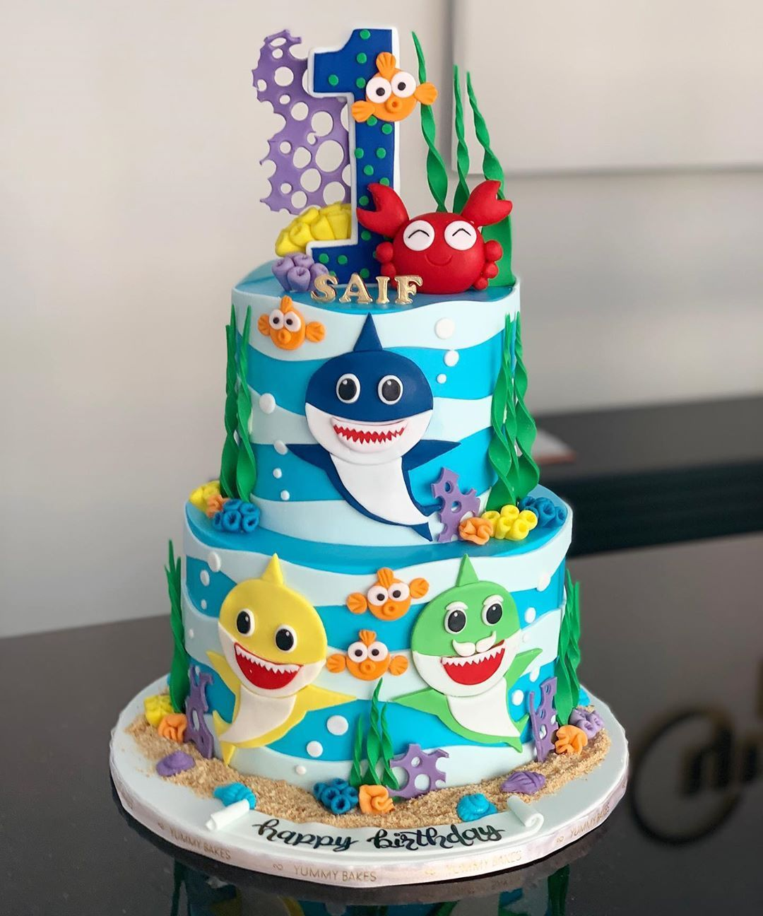 53 Likes 5 Comments Yummy Bakes Custom Desserts Yummybakes On Instagram كيكه البيبي شارك Baby Shark Party Cakes Custom Desserts Desserts