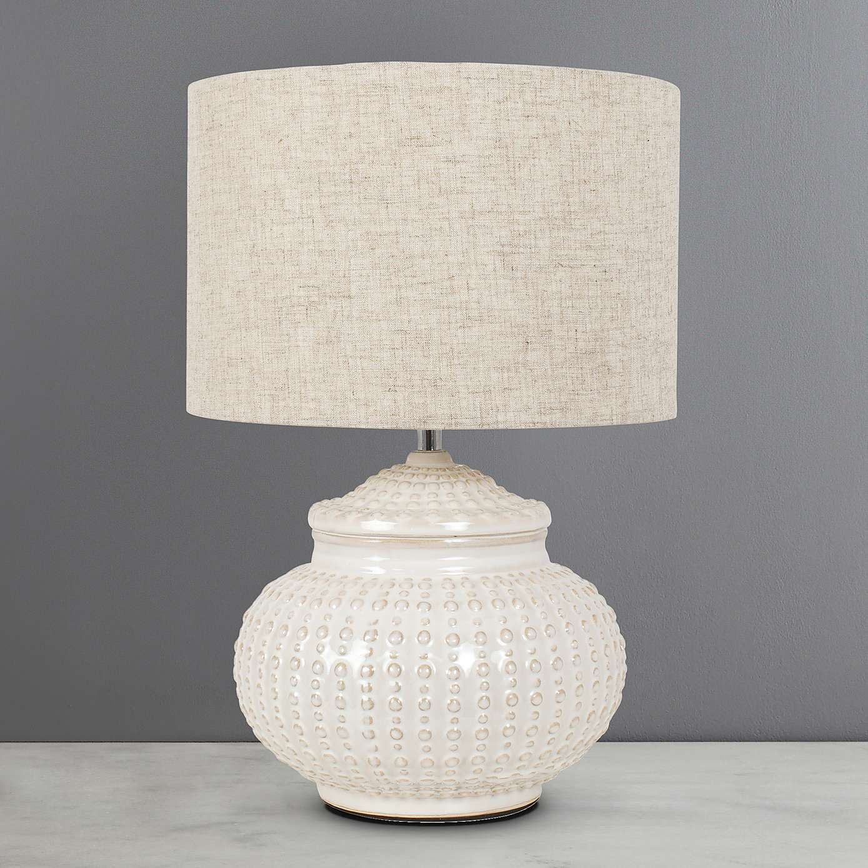 Zen Urchin Embossed Ivory Ceramic Table Lamp Dunelm Ceramic Table Lamps Table Lamp Lamp