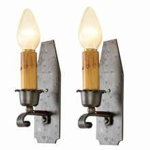 Pair of Revival Style Wrought Wall Sconces c1930s   Restored Lighting, Antiques & Vintage Finds from Rejuvenation