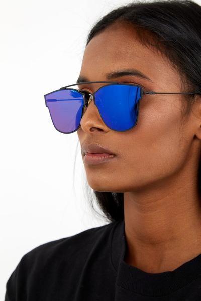 5501ad64a8c0 Fly High Sunglasses Blue | Glasses | Sunglasses, Sunglasses women ...
