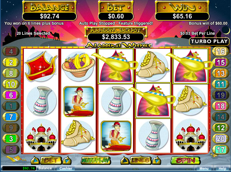 Aladdin slot can be now play online at mega888 app