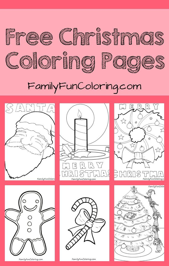 Free Christmas Coloring Pages - FamilyFunColoring #christmas ...