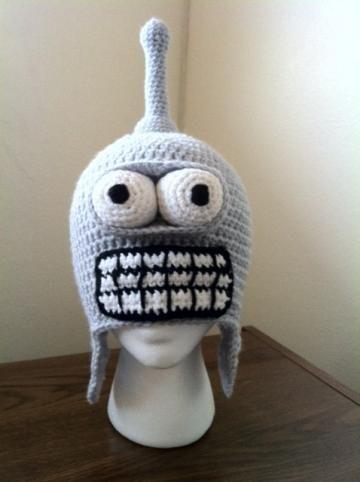 Hand Crochet Futurama Bender Hat Beanie. | Mach Crafty Shop ...