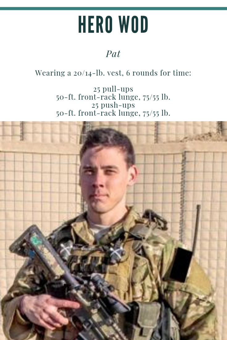 Hero WOD (workout of the day) Pat. Looking for workout ideas? Check out this weeks Hero WOD from Koa...
