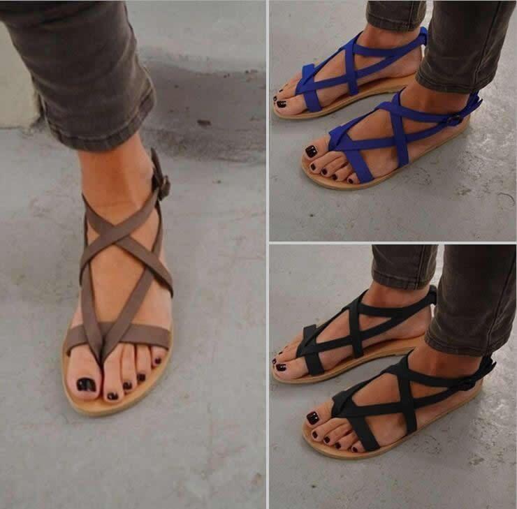 ecd036832500  8.44 AUD - Women Bohemia Ankle Strappy Flats Open Toe Sandals Shoes Summer  Beach Flip-Flops  ebay  Fashion