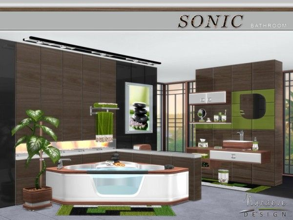 The Sims Resource: Sonic Bathroom by NynaeveDesign • Sims 4 ...