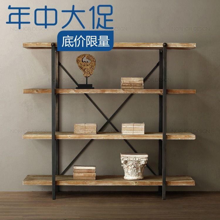 Pas cher Faire le vieux plateau de fer forgé bibliothèque bibliothèque salon de clins de bois cadre multi   étagère rétro plateau, Acheter  Plaques pivotantes de qualité directement des fournisseurs de Chine: