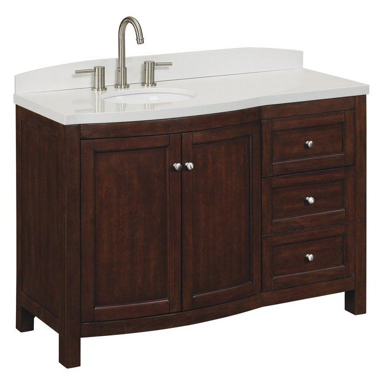Allen Roth Moravia Sable Undermount Bathroom Vanity With Engineered Stone Top 48 In X 20 Lowe S Canada
