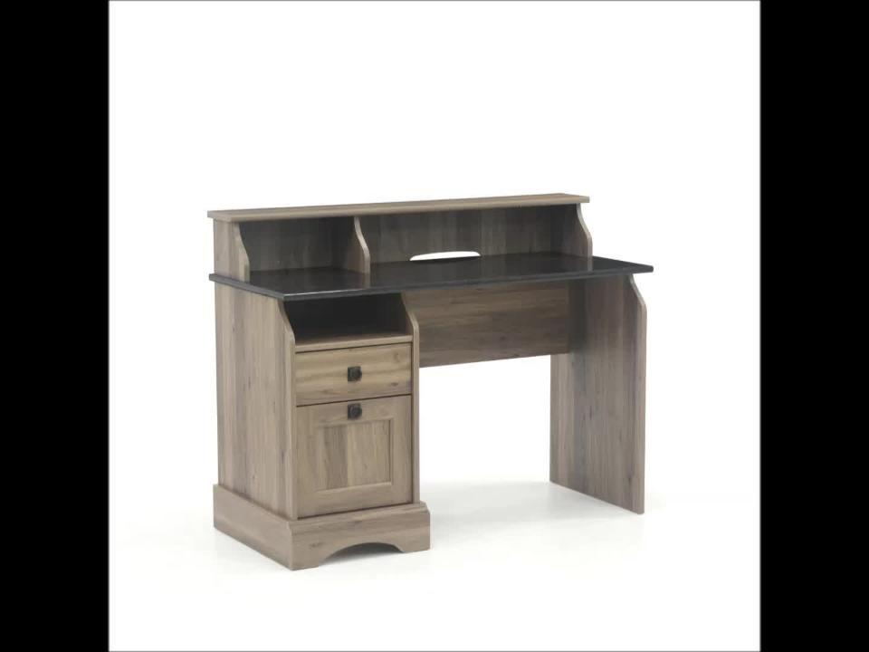 Sauder Graham Hill Salt Oak Desk With File Drawer 422811 The Home Depot Desk Sauder Desk With File Drawer