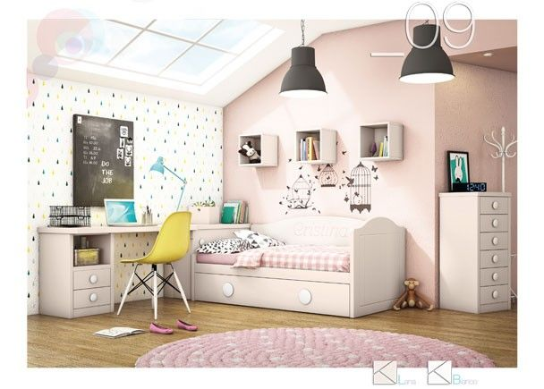 Dormitorio con cama nido con arrastre 589 092016 - Habitaciones infantiles cama nido ...
