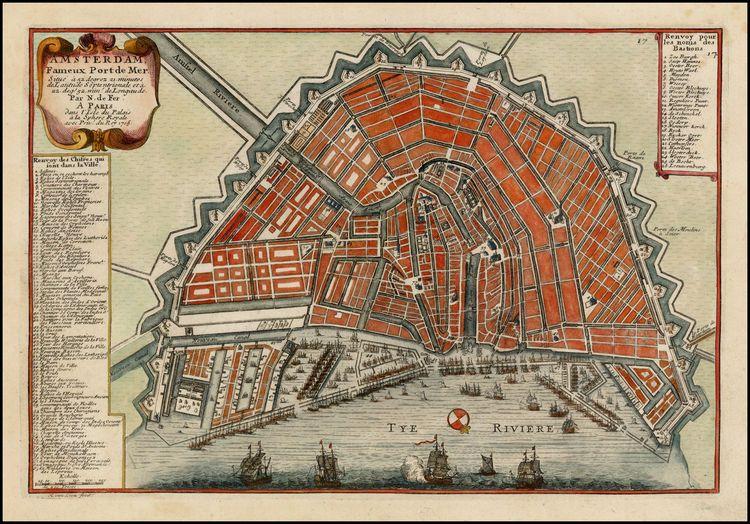 Amsterdam Fameux Port De Mer Barry Lawrence Ruderman - Antique maps amsterdam