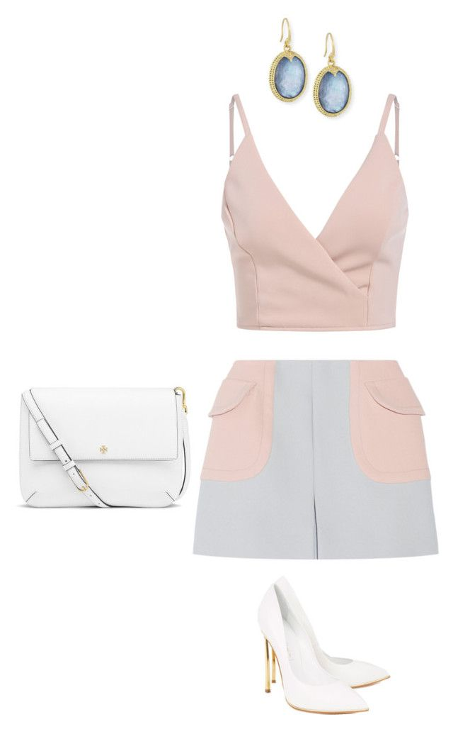"""""""Outfit for Saturday"""" by yurithisandthat ❤ liked on Polyvore featuring Miu Miu, Casadei, Tory Burch and Armenta"""