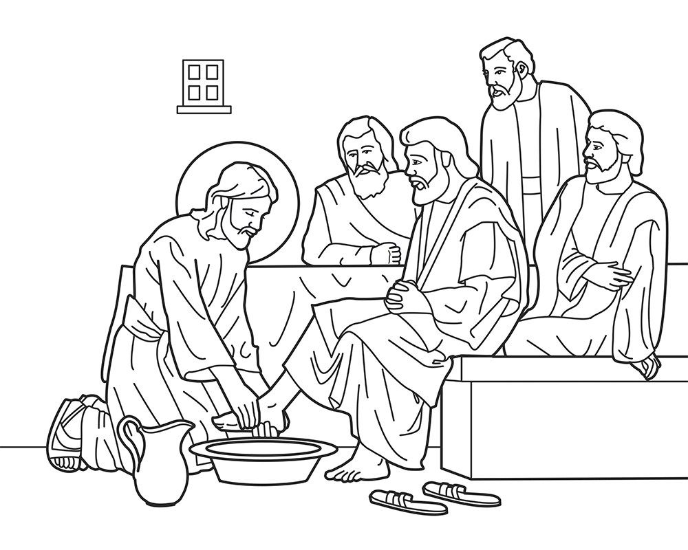 Dibujos para colorear del lavatorio de los pies Jueves Santo ...