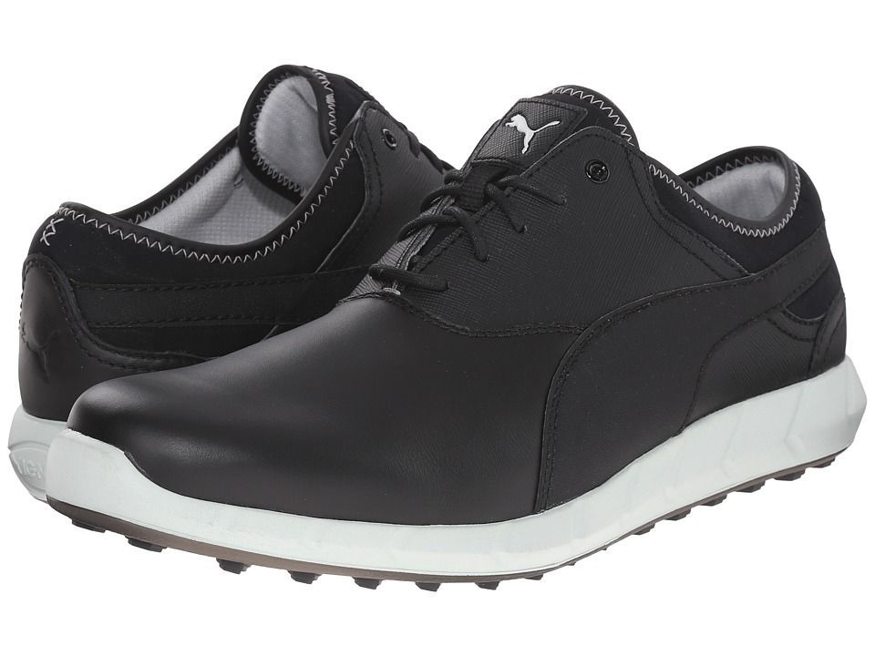 39f6413229d PUMA Golf Ignite Golf Men s Golf Shoes Black Glacier Gray  mensgolftips