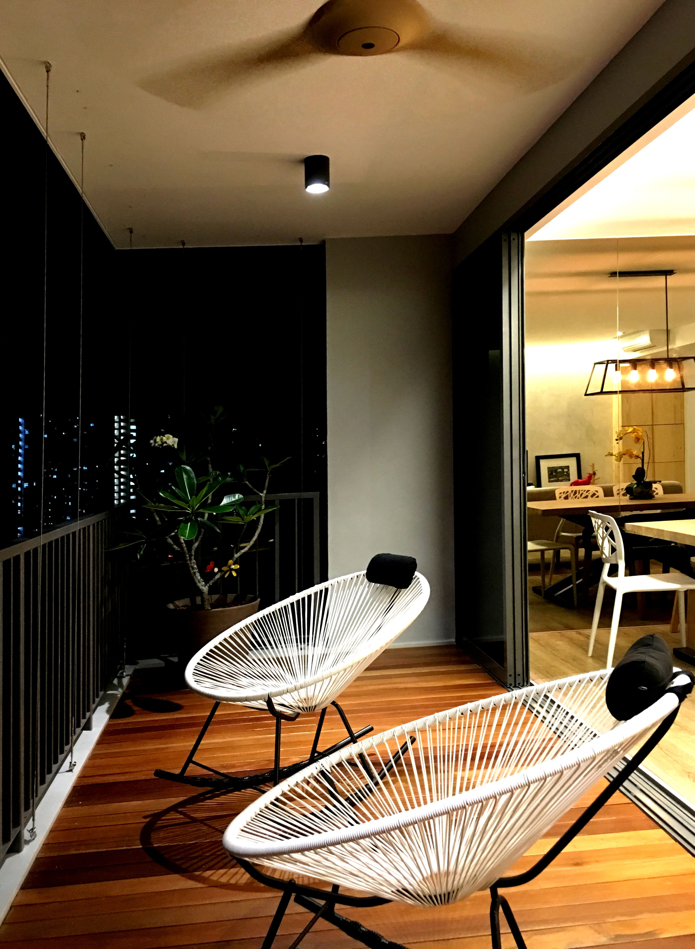 RSDS Architects   Singapore Interior Design Renovation   Apartment Balcony  Space With Balau Timber Decking And