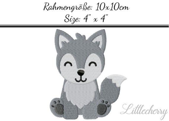 Embroidery Design Baby Husky 4'x4' - DIGITAL DOWNLOAD PRODUCT