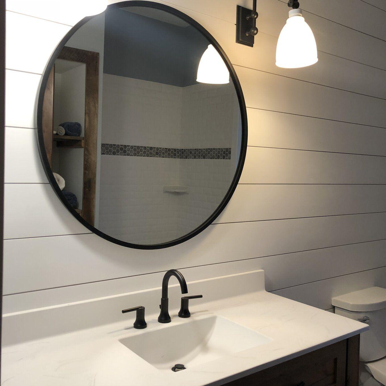 Hub Modern And Contemporary Bathroom Vanity Mirror Bathroom Mirror Design Contemporary Bathroom Vanity Round Mirror Bathroom [ 1360 x 1360 Pixel ]