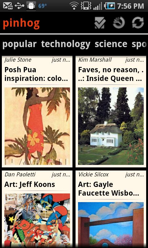 pinhog Android app for Pinterest! Jeff koons art