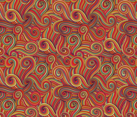seamless abstract hand-drawn pattern, waves background
