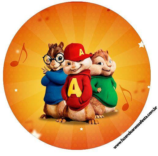 Tubete, Toppers e Latinhas Alvin e os Esquilos | Festa ...
